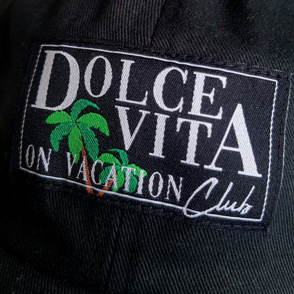 Dolce Vita Patch Cap - Black