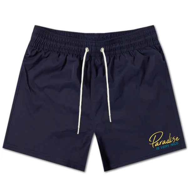 Paradise Is Very Nice Swim Shorts - Navy