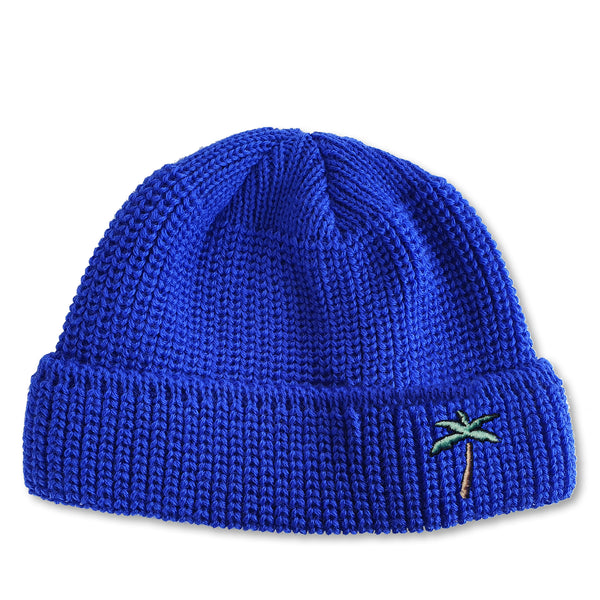 Short Wool Beanie Palm - Royal