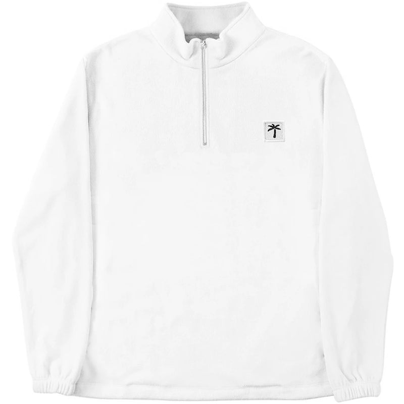 Palms Patch Fleece Zip Sweater - White