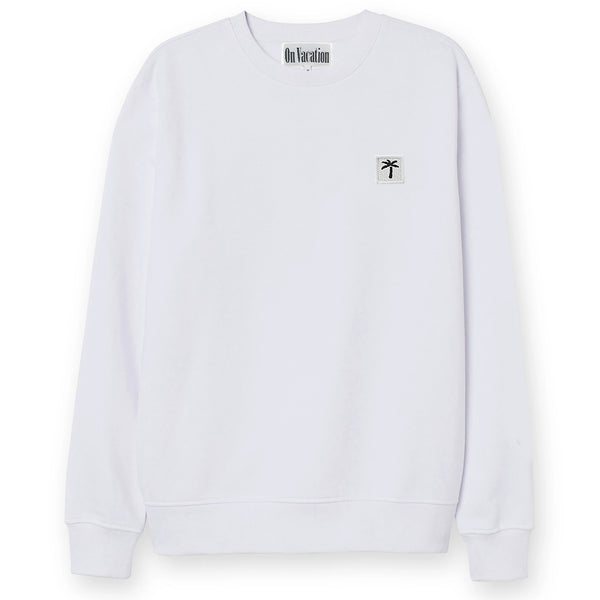 Palms Patch Sweater - White