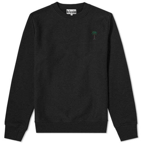 On Vacation Palms Sweater Black