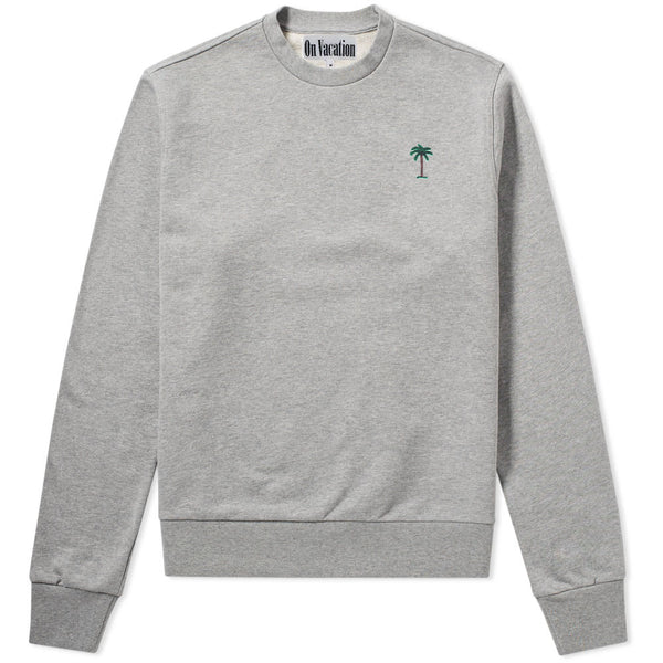 On Vacation Palms Sweater Grey