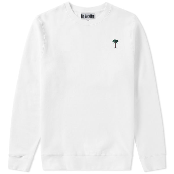 On Vacation Palms Sweater White