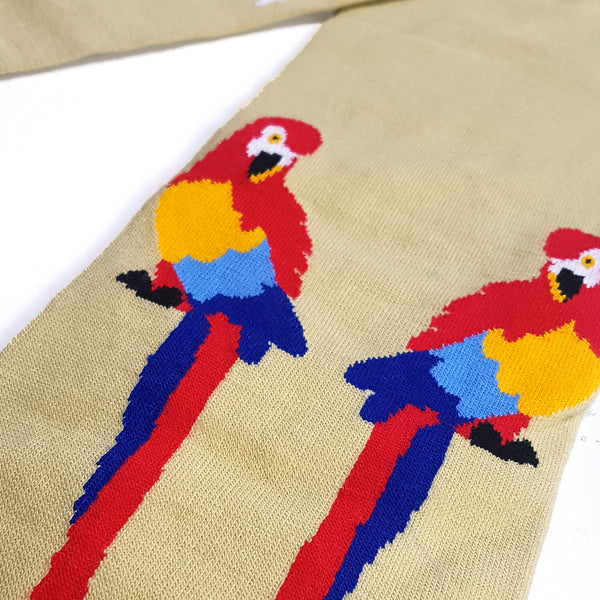 Parrot Knit Scarf - Sand