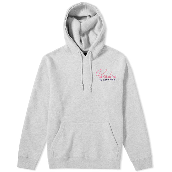 Paradise Is Very Nice Hoodie Grey