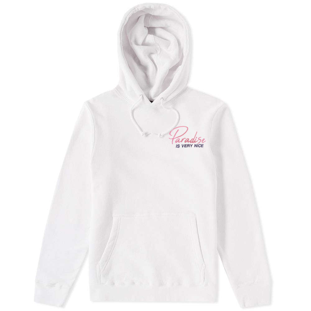 Paradise Is Very Nice Hoodie White