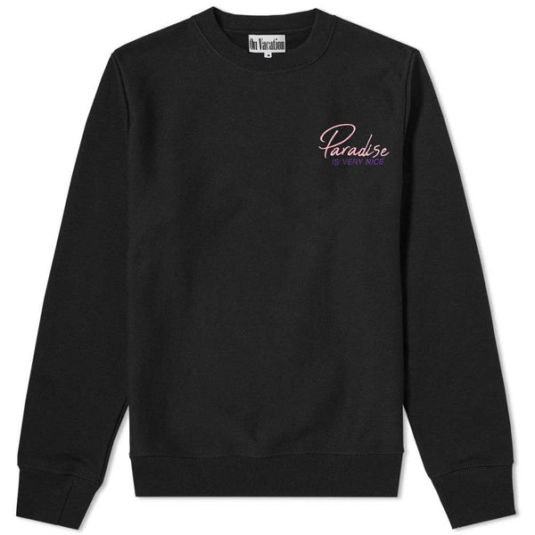 Paradise Is Very Nice Sweater Black