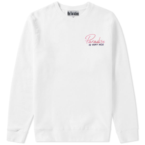 Paradise Is Very Nice Sweater White