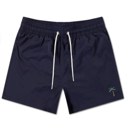 Retro Palms Swim Shorts - Navy