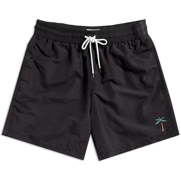 Retro Palms Swim Shorts - Black