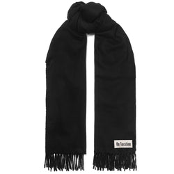On Vacation Oversize Wool Scarf Black