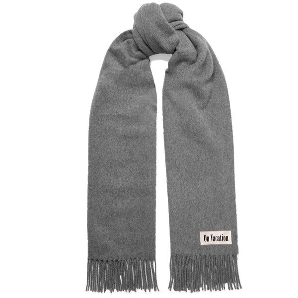 On Vacation Oversize Wool Scarf Grey