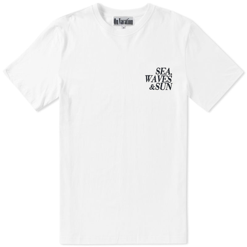 Sea Waves Sun T-Shirt - White