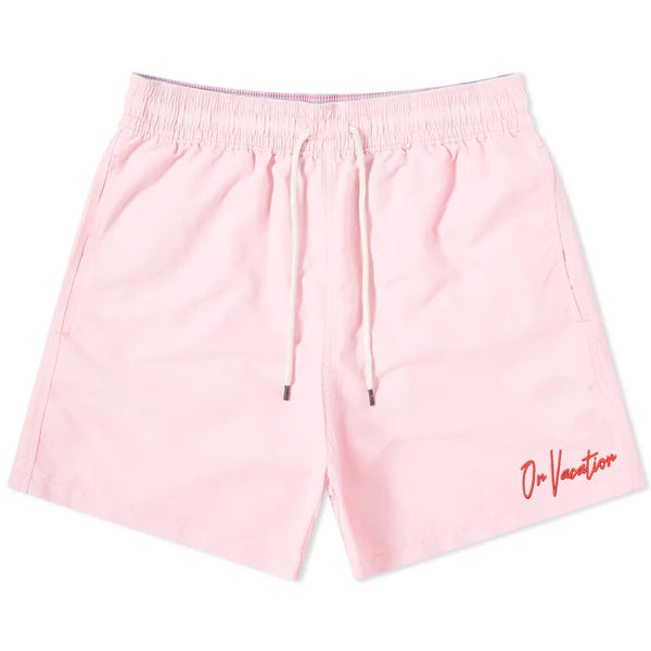 On Vacation Signature Swim Shorts - Candy