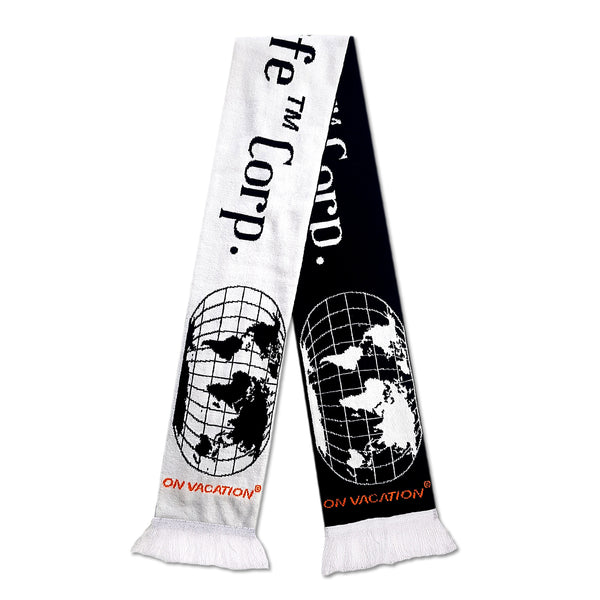 Slow Life Knit Scarf - Black/White