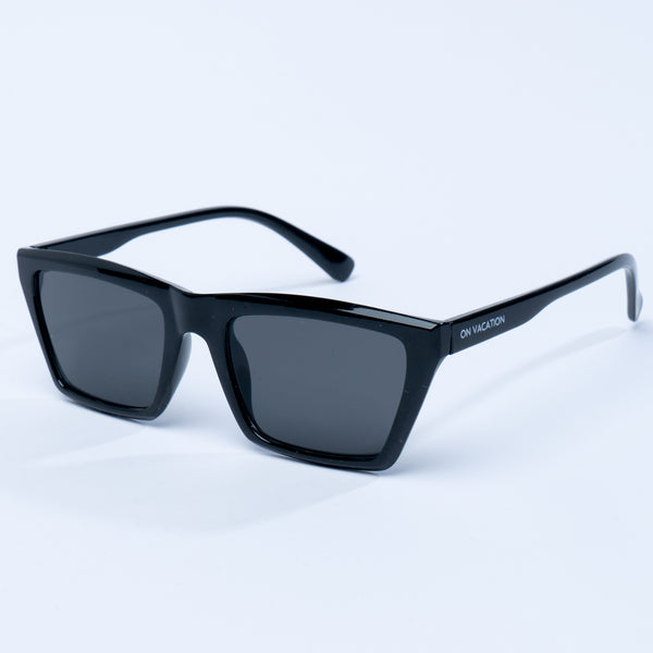 Flat Top Retro Sunglasses - Black