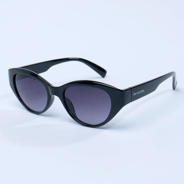 Retro Cat Eye Sunglasses - Black