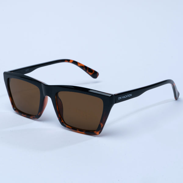 Flat Top Retro Sunglasses - Brown