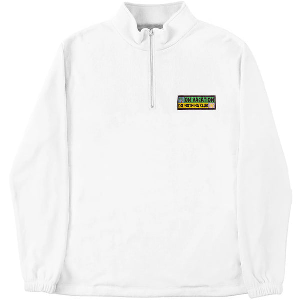 Do Nothing Club Fleece White
