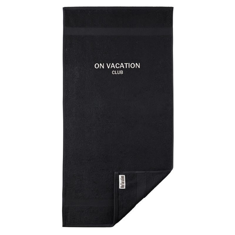 On Vacation Club Towel Black