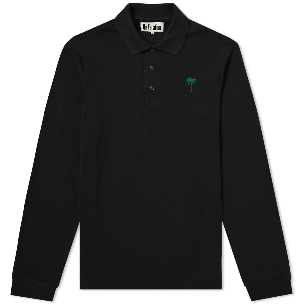 Palms Polo Shirt Longsleeve Black