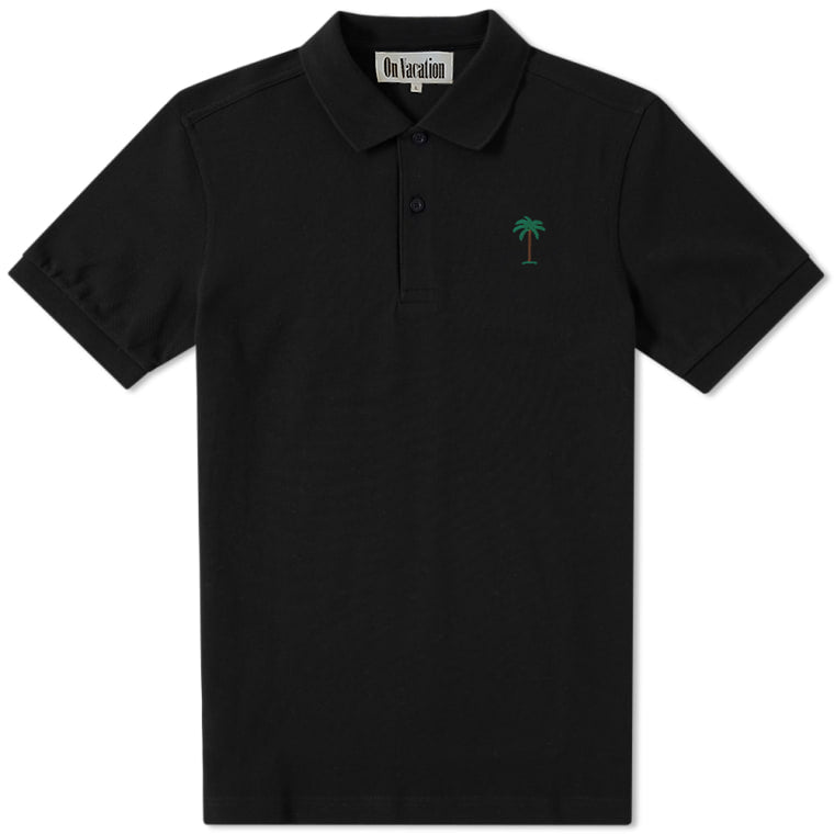 Palms Polo Shirt Black