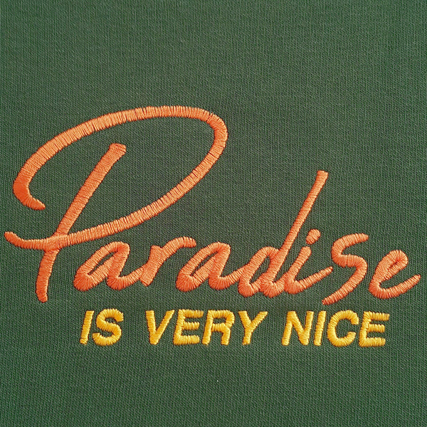 Paradise Is Very Nice Sweater Dark-Green