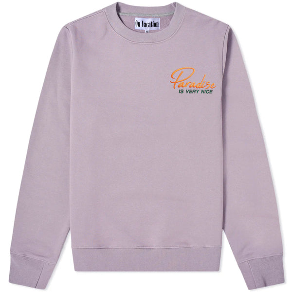 Paradise Is Very Nice Sweater Light-Purple
