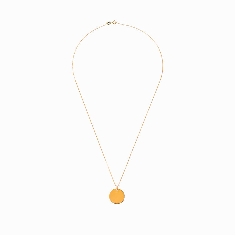 Plain Coin Gold Chain