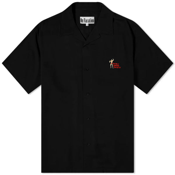 Secret Society Resort Shirt - Black