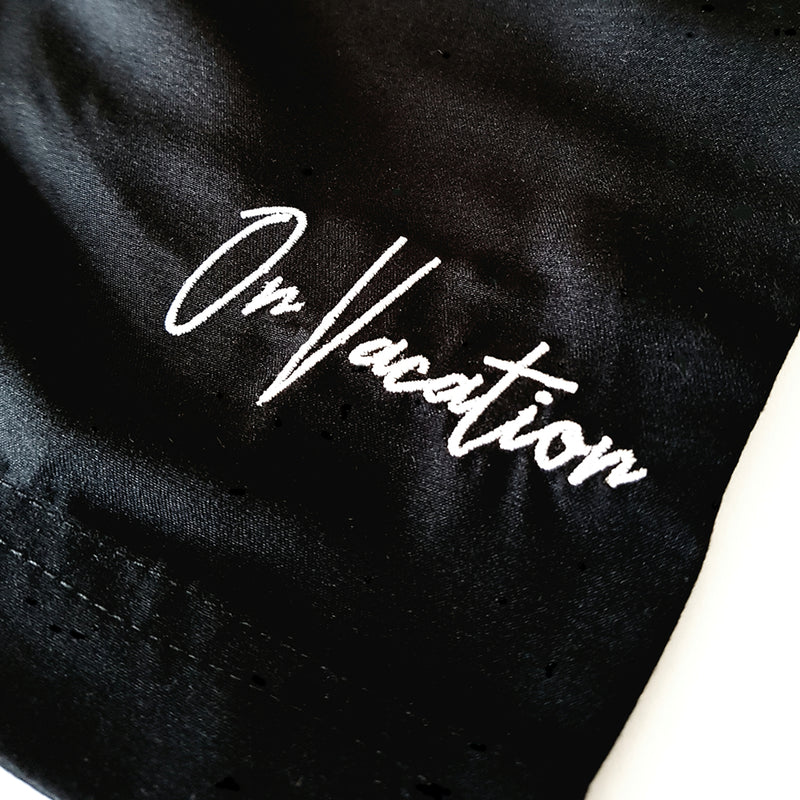 On Vacation Signature Swim Shorts - Black