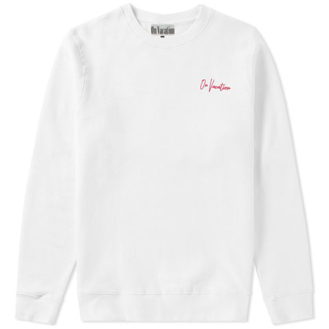 On Vacation Signature Sweater Pink