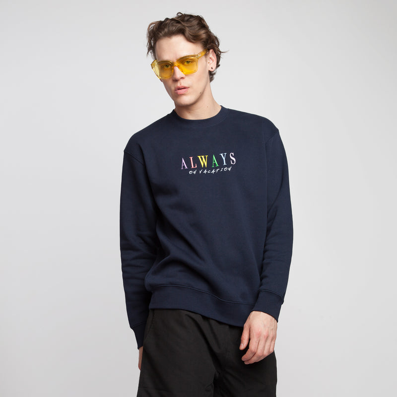 Always On Vacation Sweater Navy