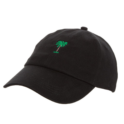 On Vacation Palms Cap Black
