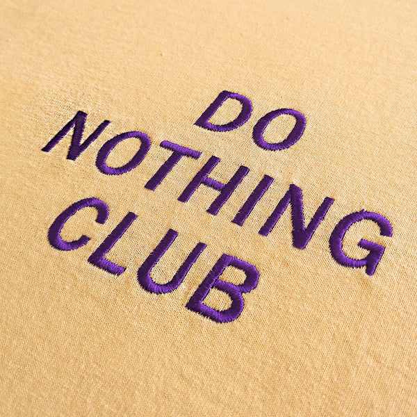 Do Nothing Club T-Shirt Peach