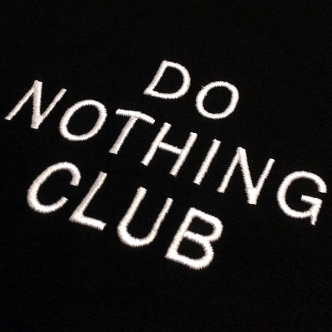 Do Nothing Club T-Shirt Black