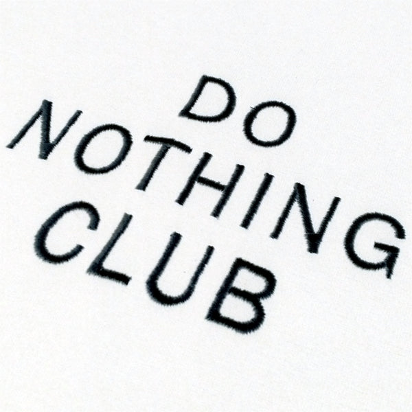 Ladies' Cropped T-Shirt Do Nothing Club - White