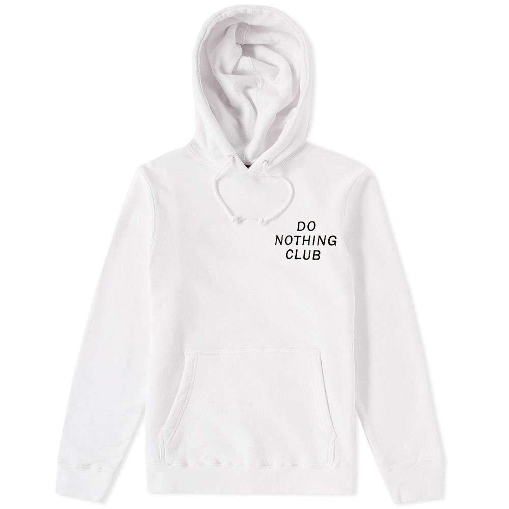 Do Nothing Club Hoodie White