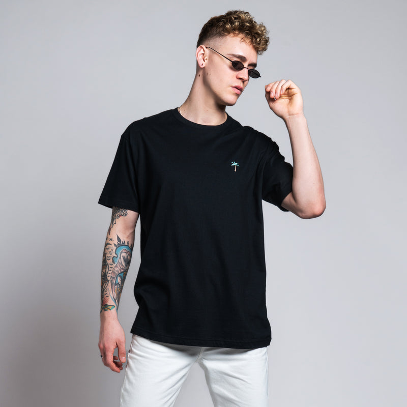 Retro Palms T-Shirt - Black