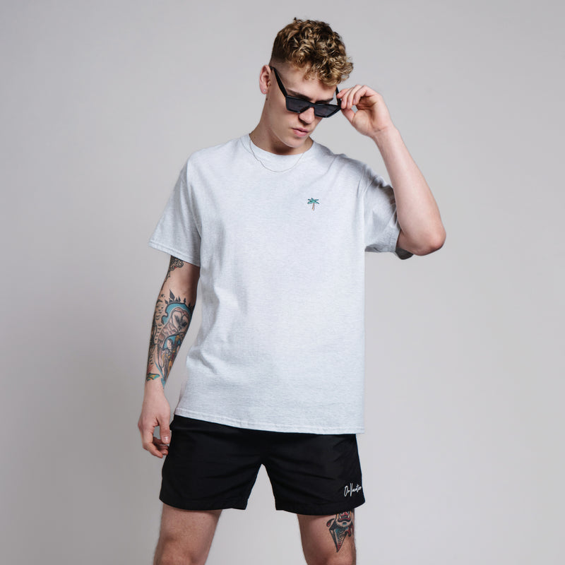 Retro Palms T-Shirt - Grey