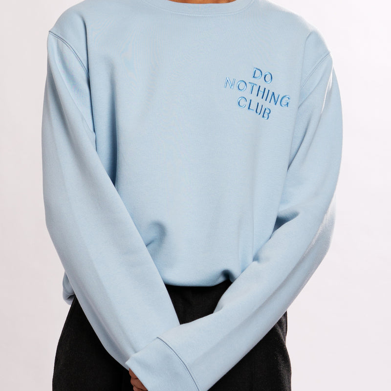 Do Nothing Club Sweater - Light-Blue