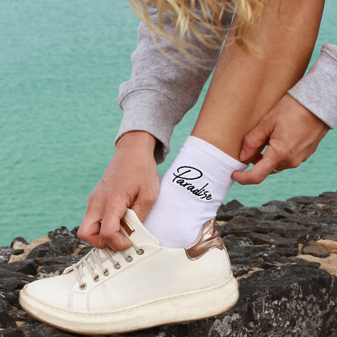 Paradise Socks White