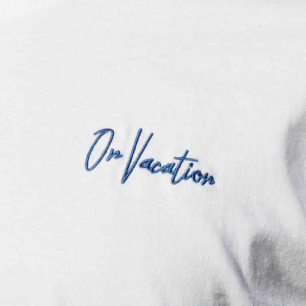 On Vacation Signature Tee Blue