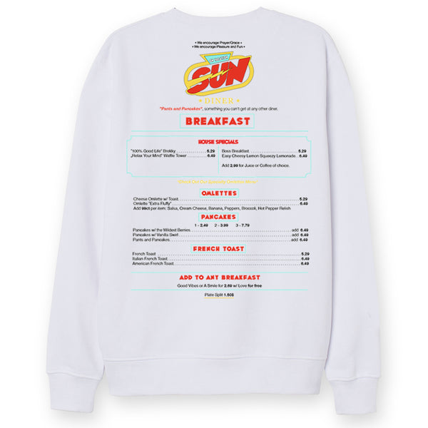 Sun Diner Sweater - White