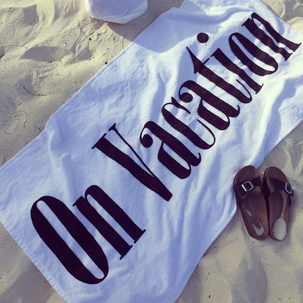On Vacation Beach Towel