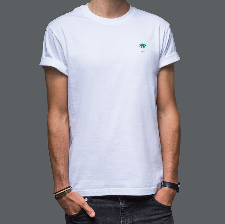 On Vacation Palms T-Shirt White