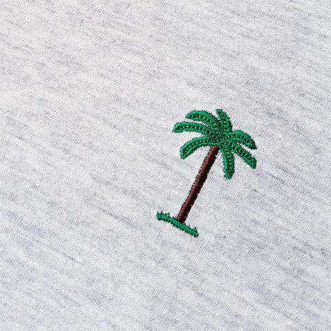 On Vacation Palms T-Shirt Light Grey