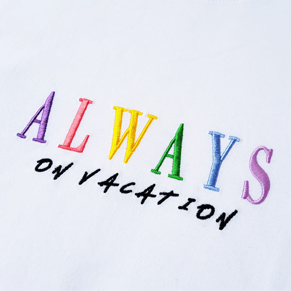 Always On Vacation T-Shirt White