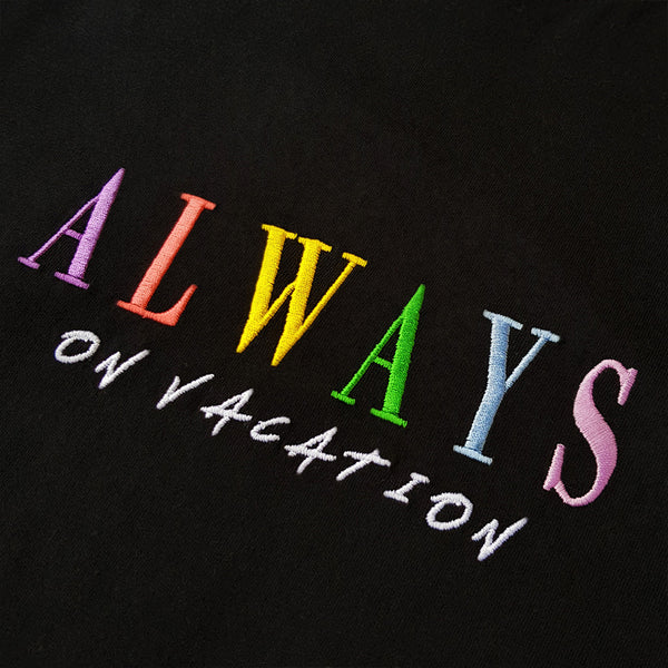 Always On Vacation T-Shirt Black